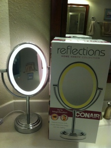 Conair lighted mirror